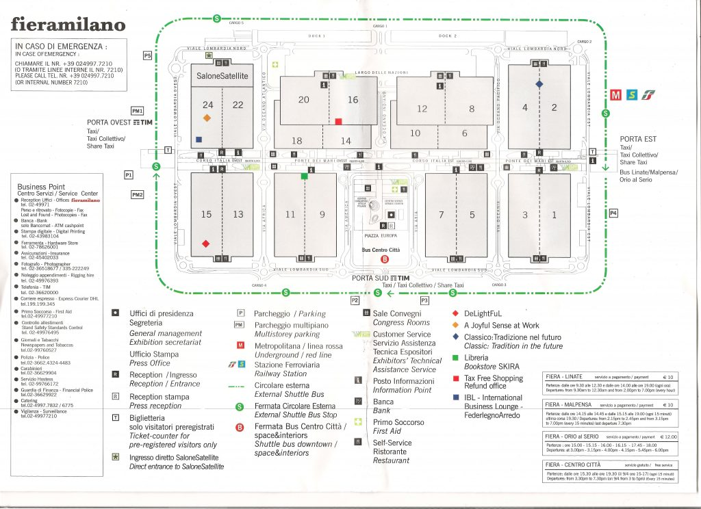 Plan targów salone del Milano Fieramilano