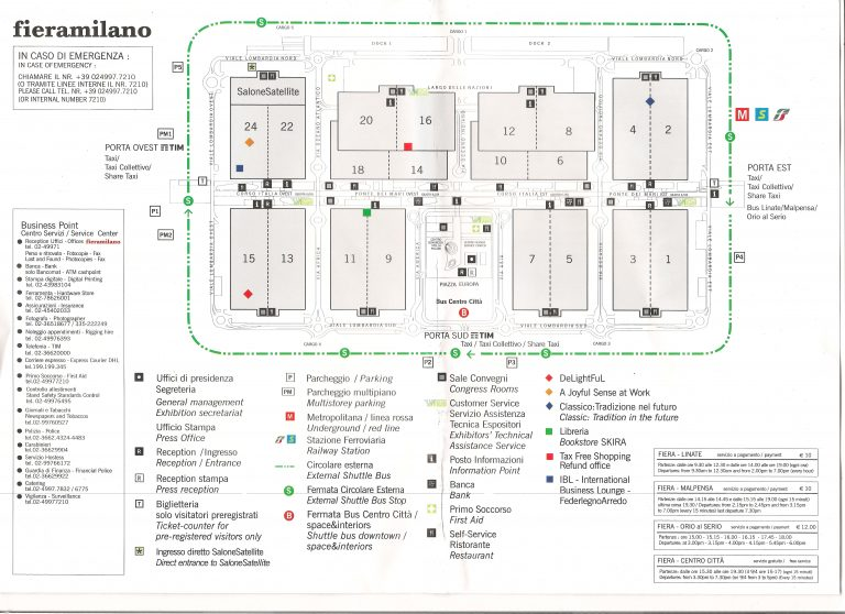 Plan targów w Mediolanie