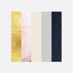 Paleta kolorystyczna glamour różne faktury