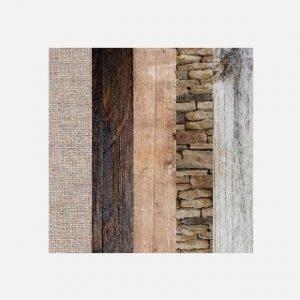 Paleta rustykalna barw i struktur drewna i kamienia