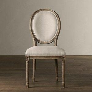 Naturalne krzesło francuskie angielskie bez podłokietników