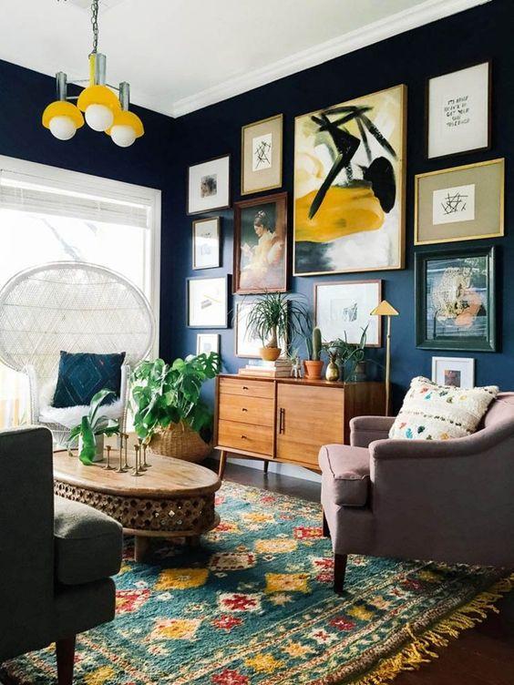 Styl eklektyczny w mieszkaniu pokój w stylu retro