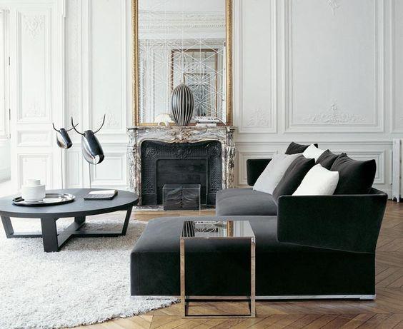 Paryski salon ze sztukaterią