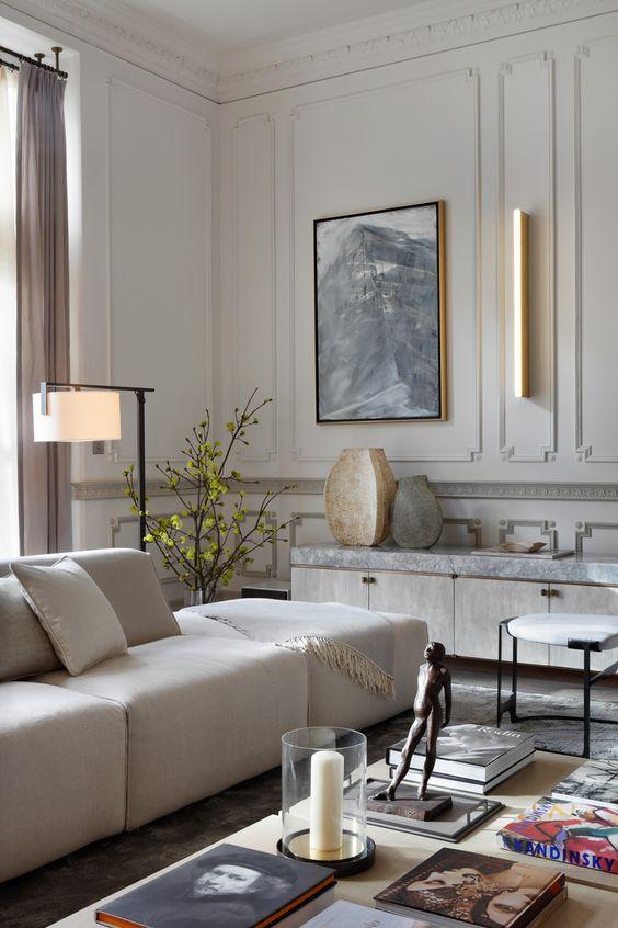 Sztuka w paryskim apartamencie