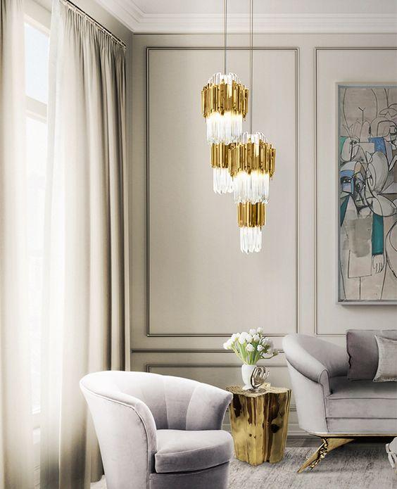 Złoto biała lampa