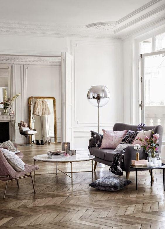Elegancki francuski vintyge salon
