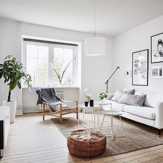 Małe mieszkanie w stylu skandynawskim