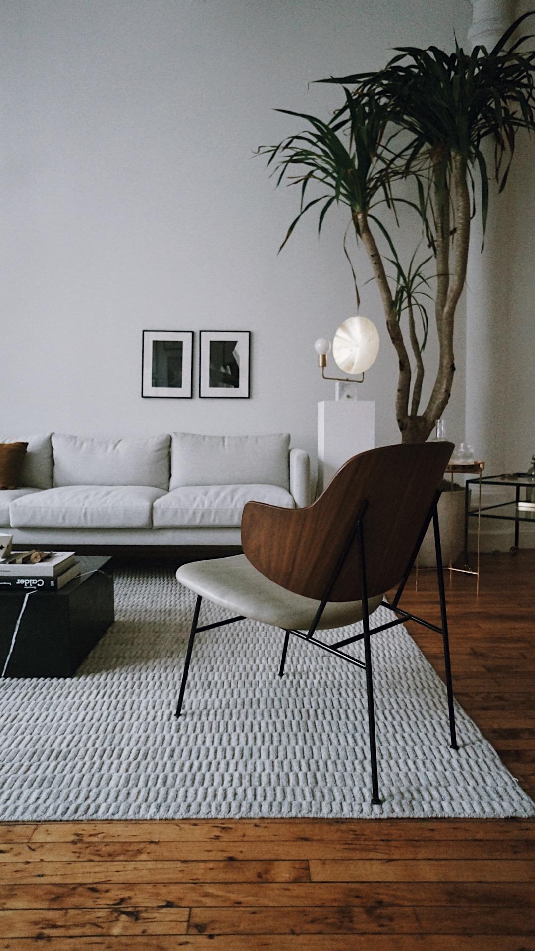 Kanapa i fotel w stylu duńskim