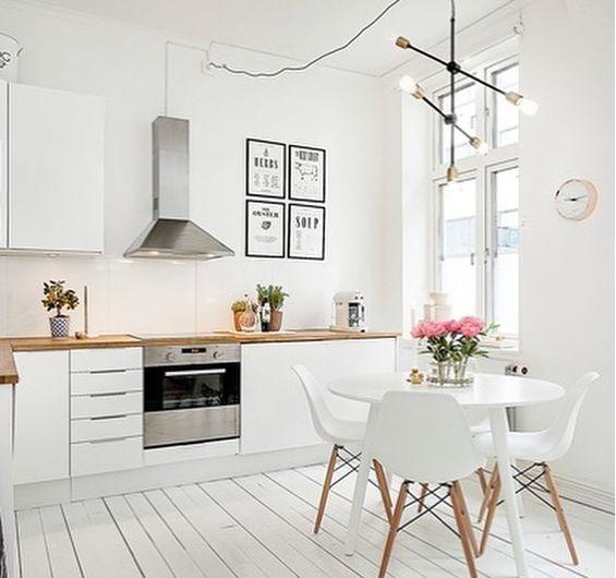 Wnętrza skandynawskie kuchnia