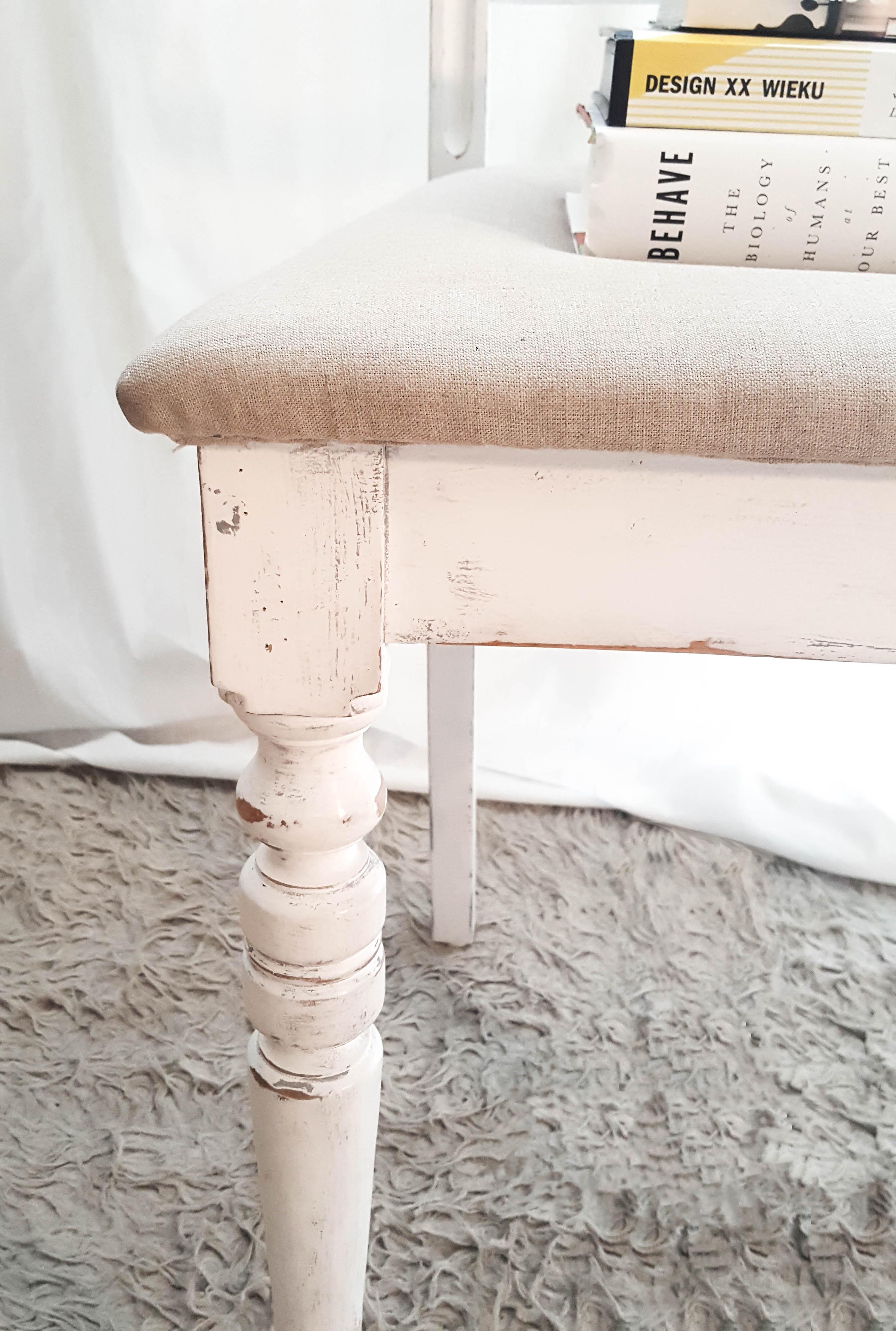 Krzesło shabby chic po renowacji