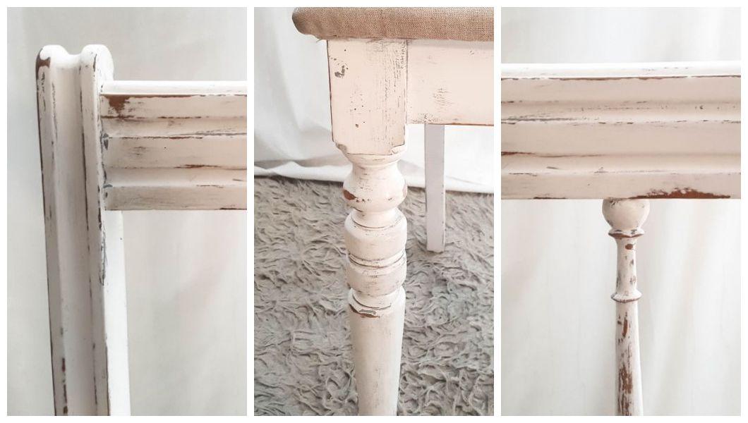 Odnawianie starych krzeseł shabby chic