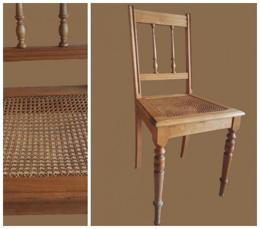 Krzesło wiklinowe przed renowacją