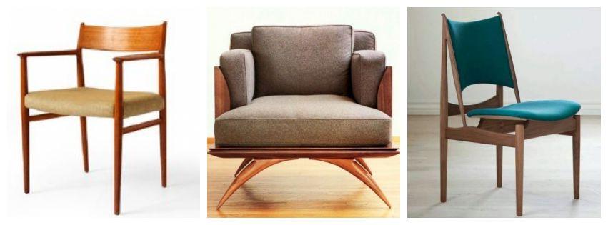 Krzesła w stylu modernistycznym