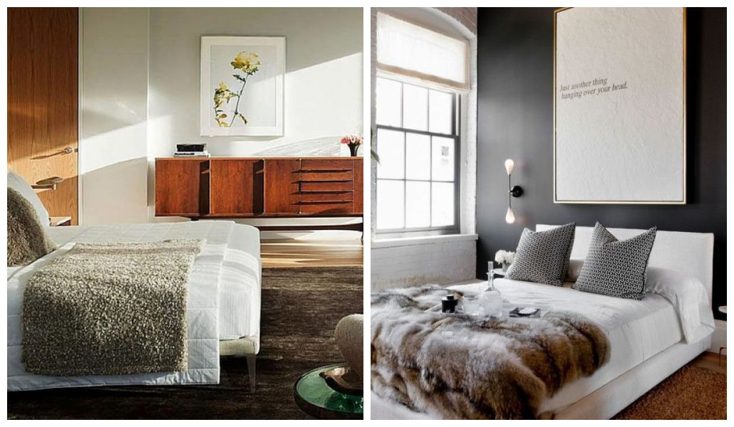 Sypialnia w stylu modernistycznym i współczesnym