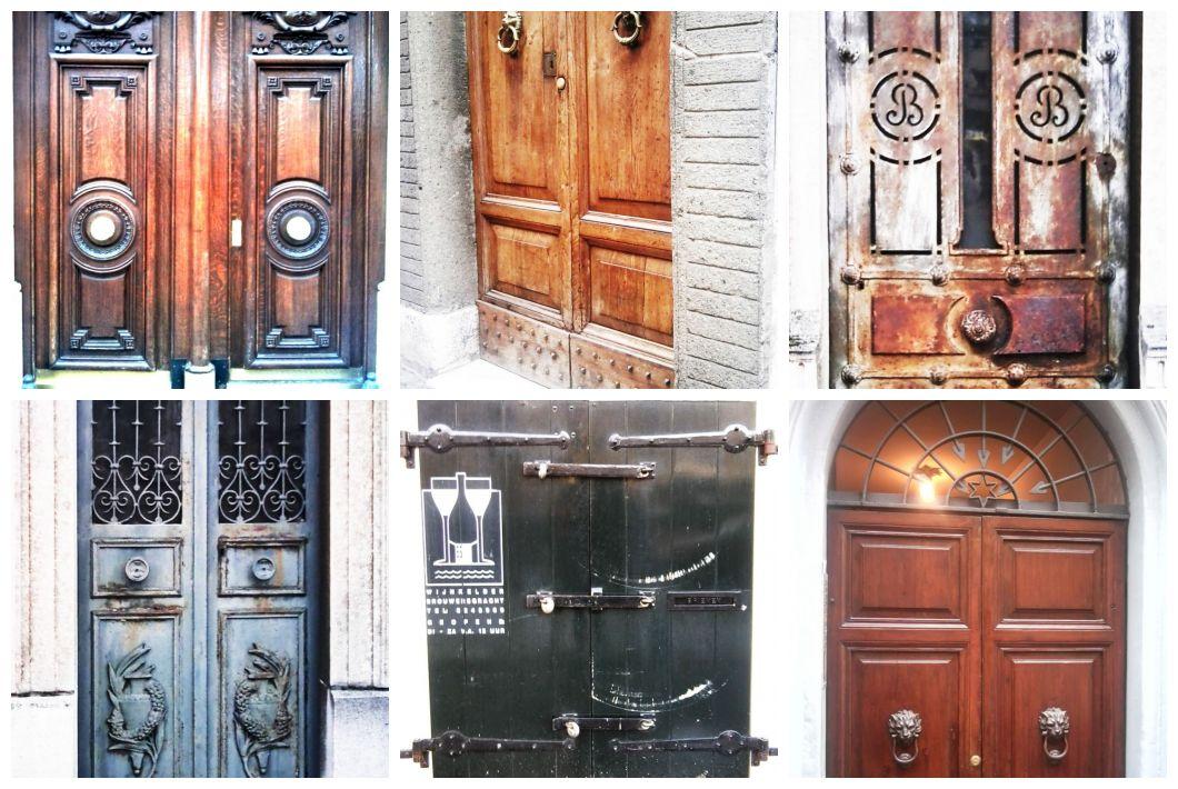 Ciekawe, stare drzwi ze stolic Europy