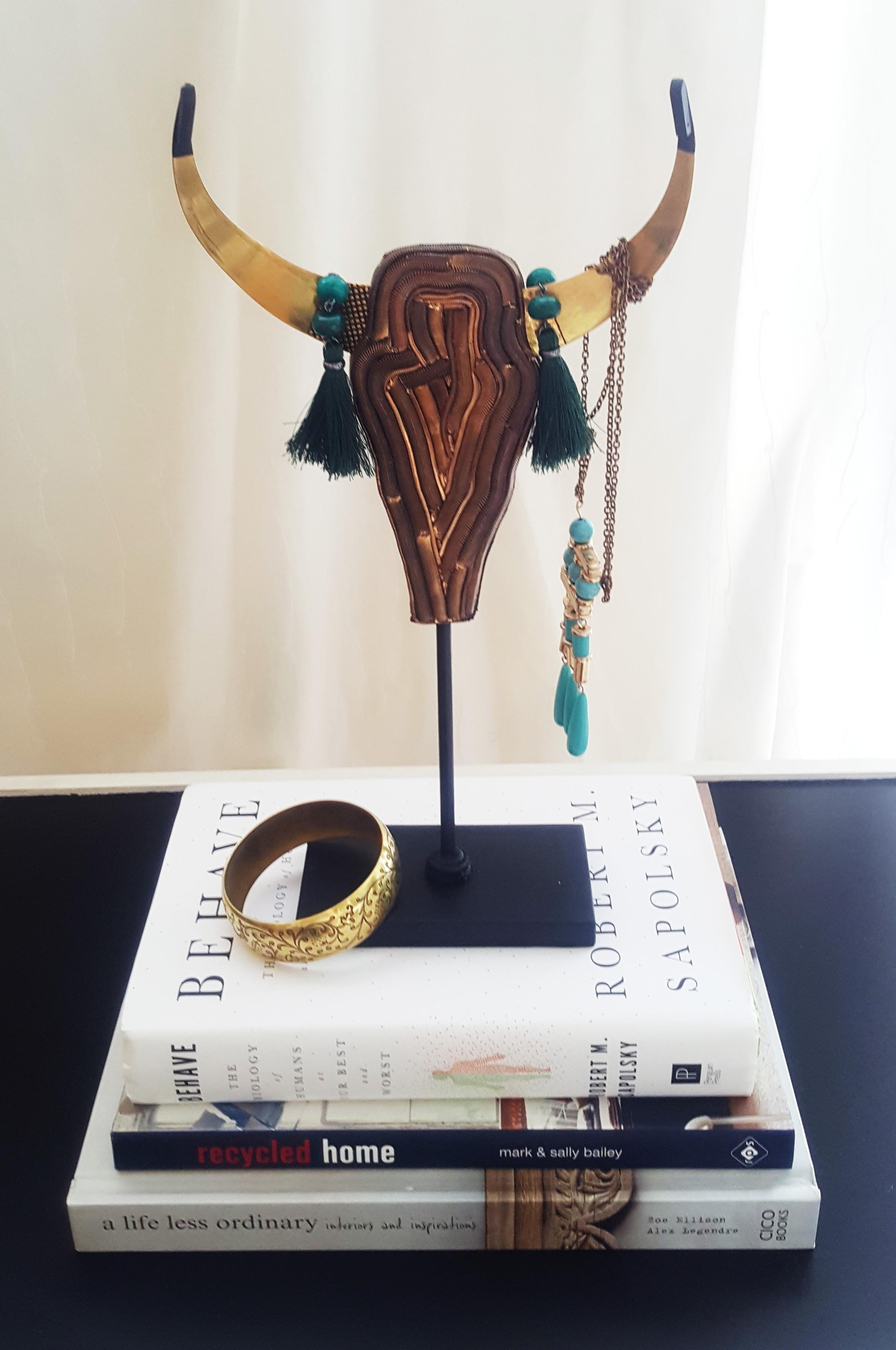 Własnoręcznie robiony wieszak stojak na biżuterię