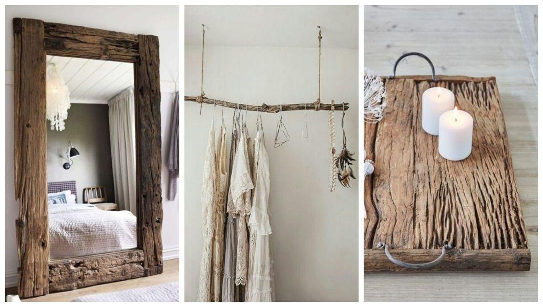 Dekoracje wykonane ze starego drewna