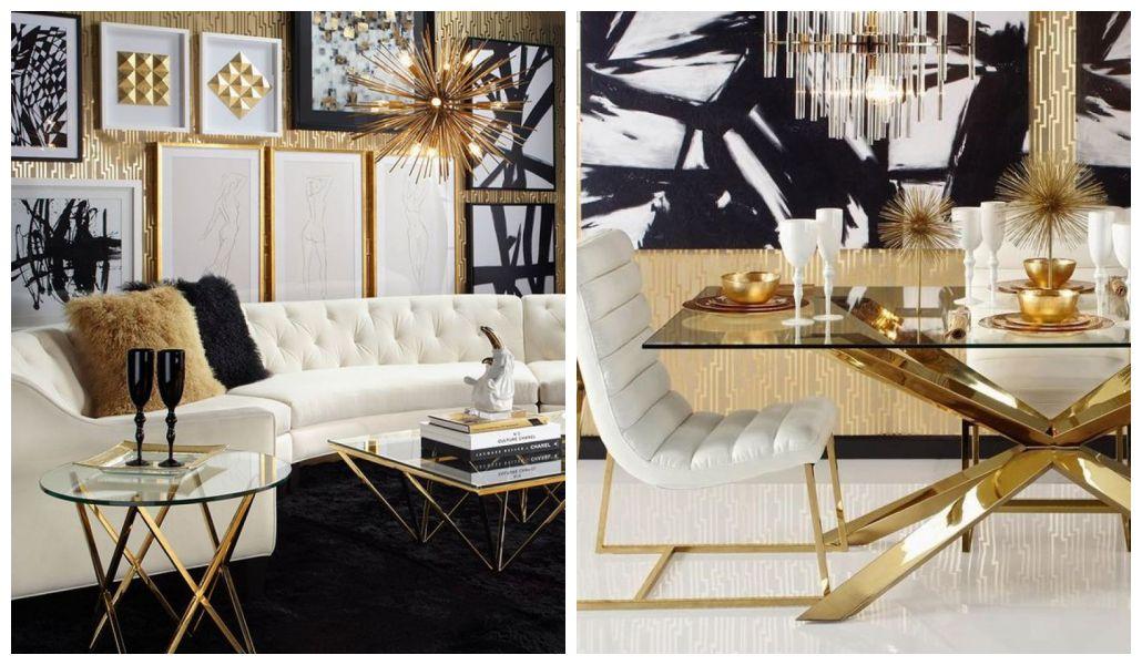Złote dekoracje do domu