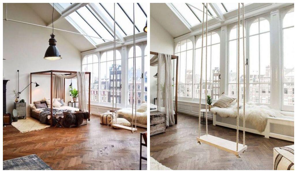 Loftowy apartament z huśtawką