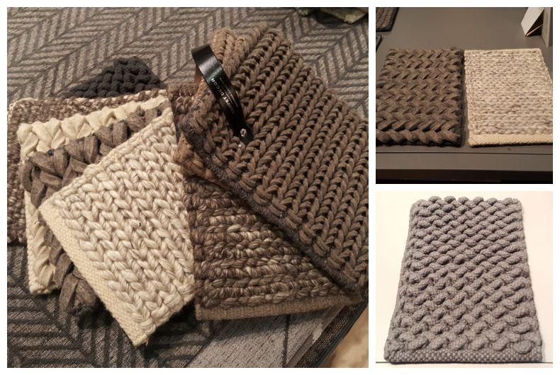 Ręcznie wyplatane dywany z wełny Carpet Decor
