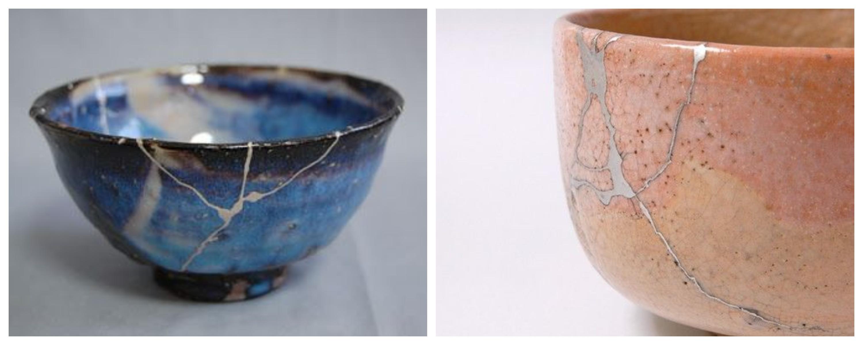 Porcelana wabi sabi metoda Kintsugi