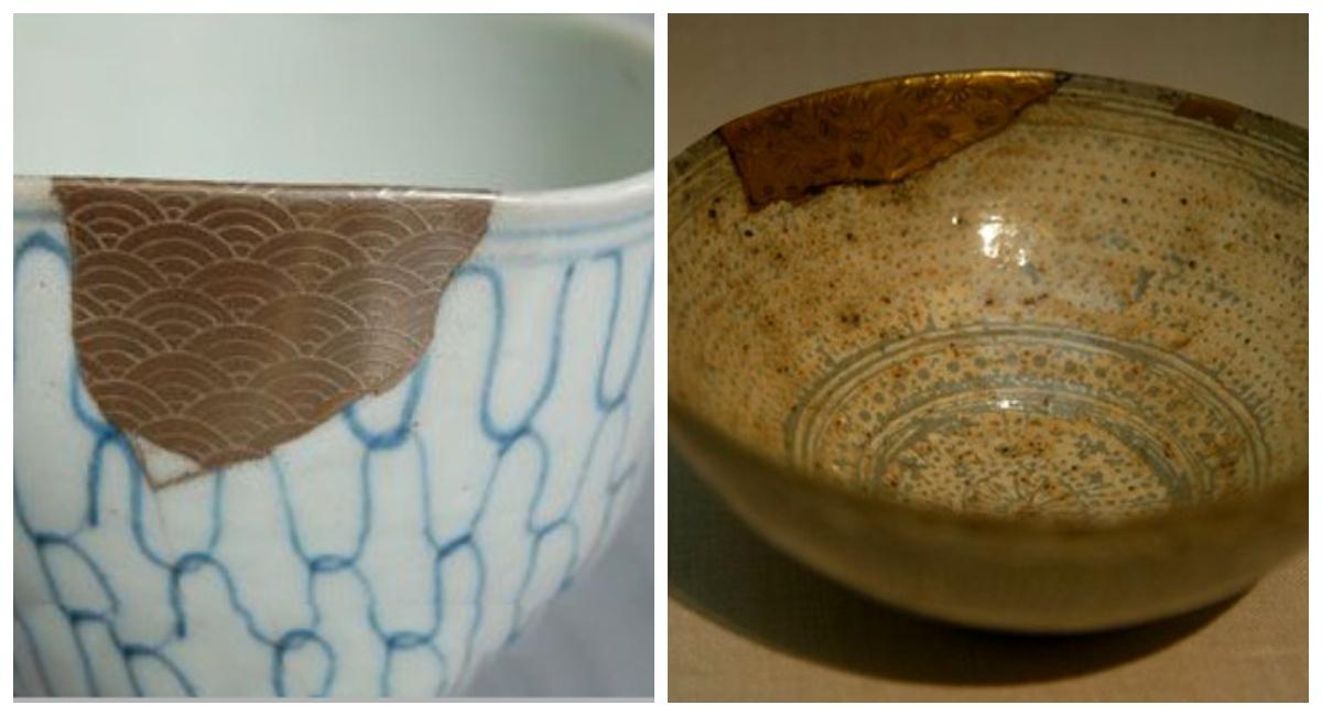 Yobitsugi technika łączenia potłuczonych elementów ceramiki
