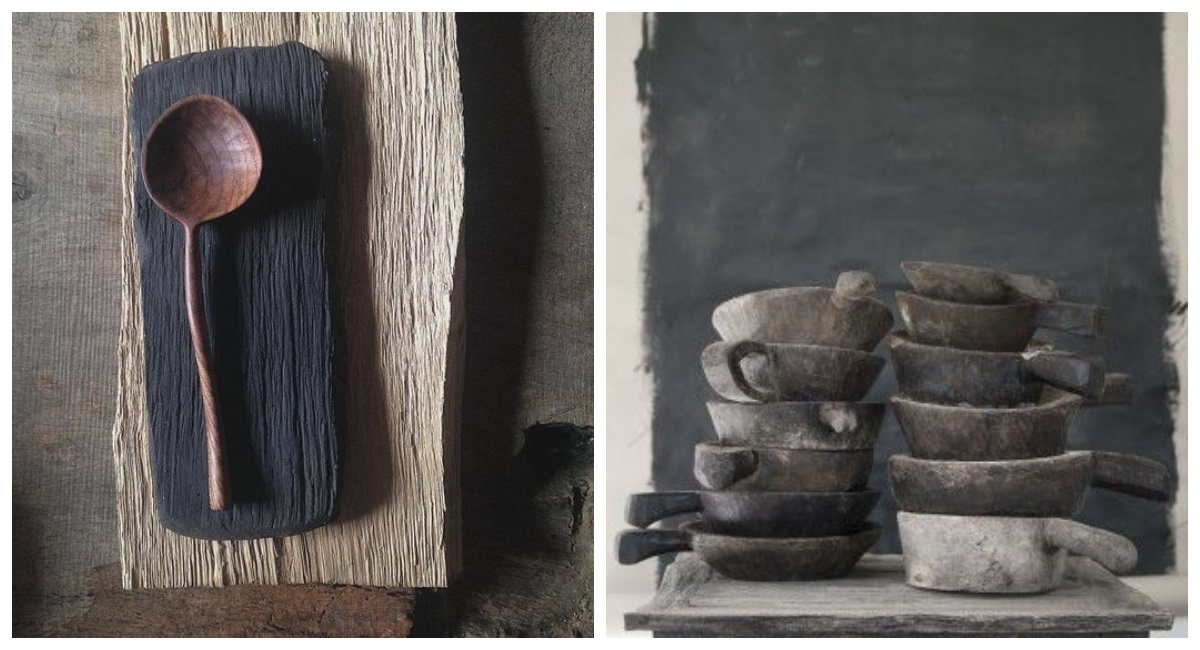 Naczynia i sztućce wabi sabi