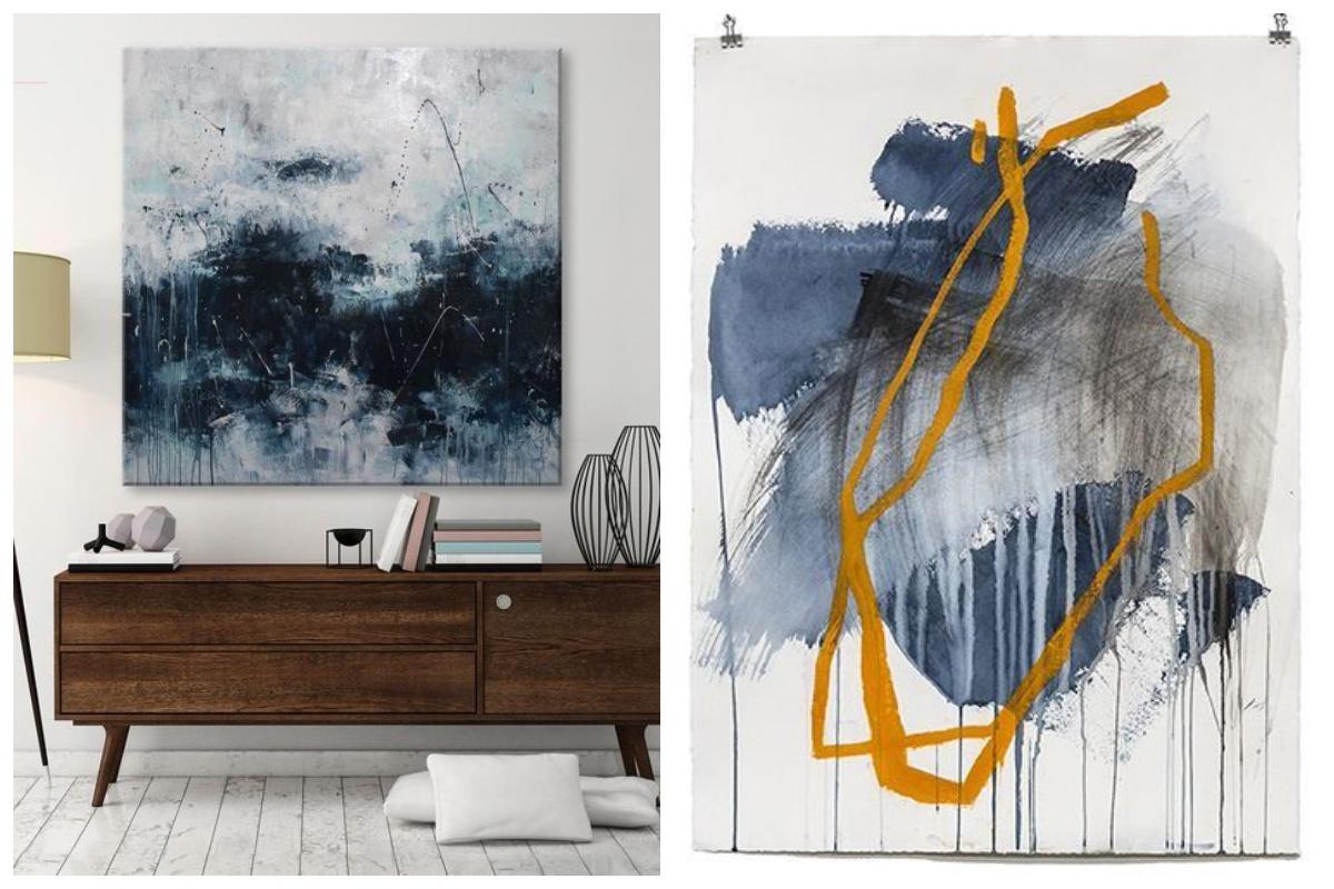 Sztuka współczesna we wnętrzach - malarstwo abstrakcyjne i minimalistyczne