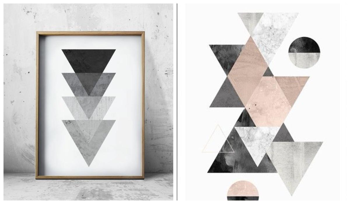 Nowoczesne obrazy grafiki trójkąty