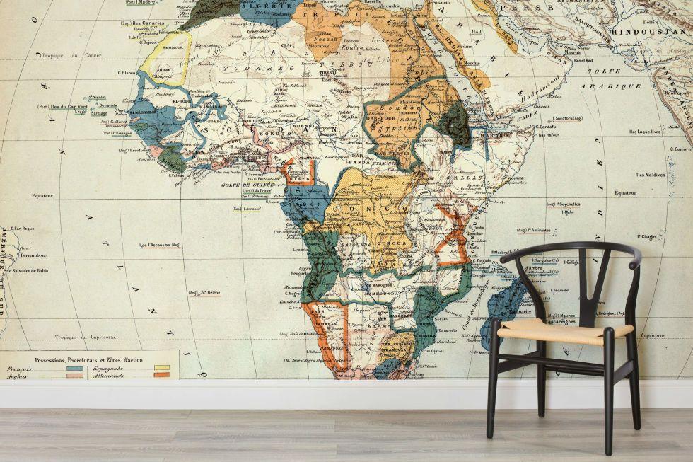 Fototapeta mapa afryki na ścianie