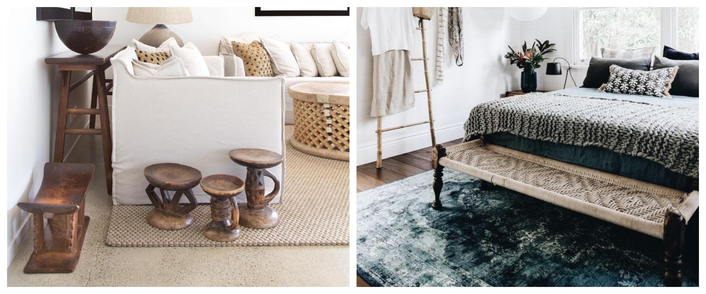 Etno trend ławeczki i stołki