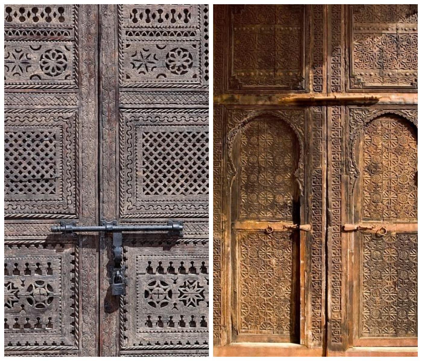 Marokańskie drewniane drzwi