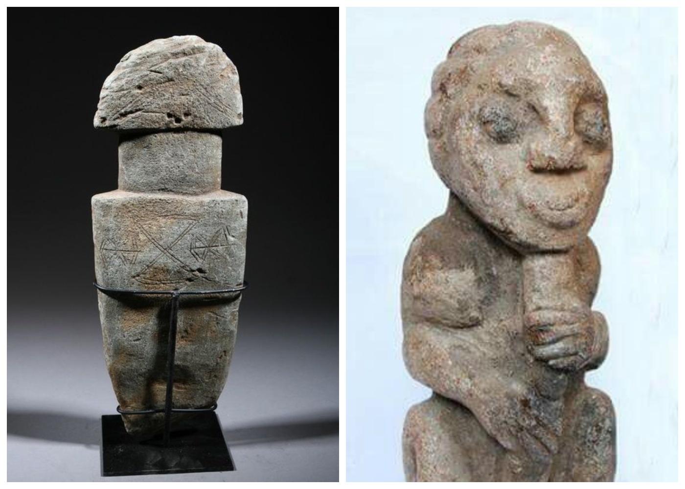 Kamienne afrykańskie figurki ludzi