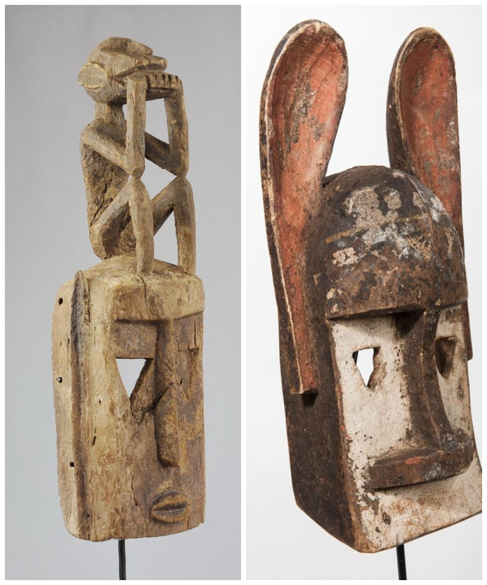 Afrykańskie maski zwierząt