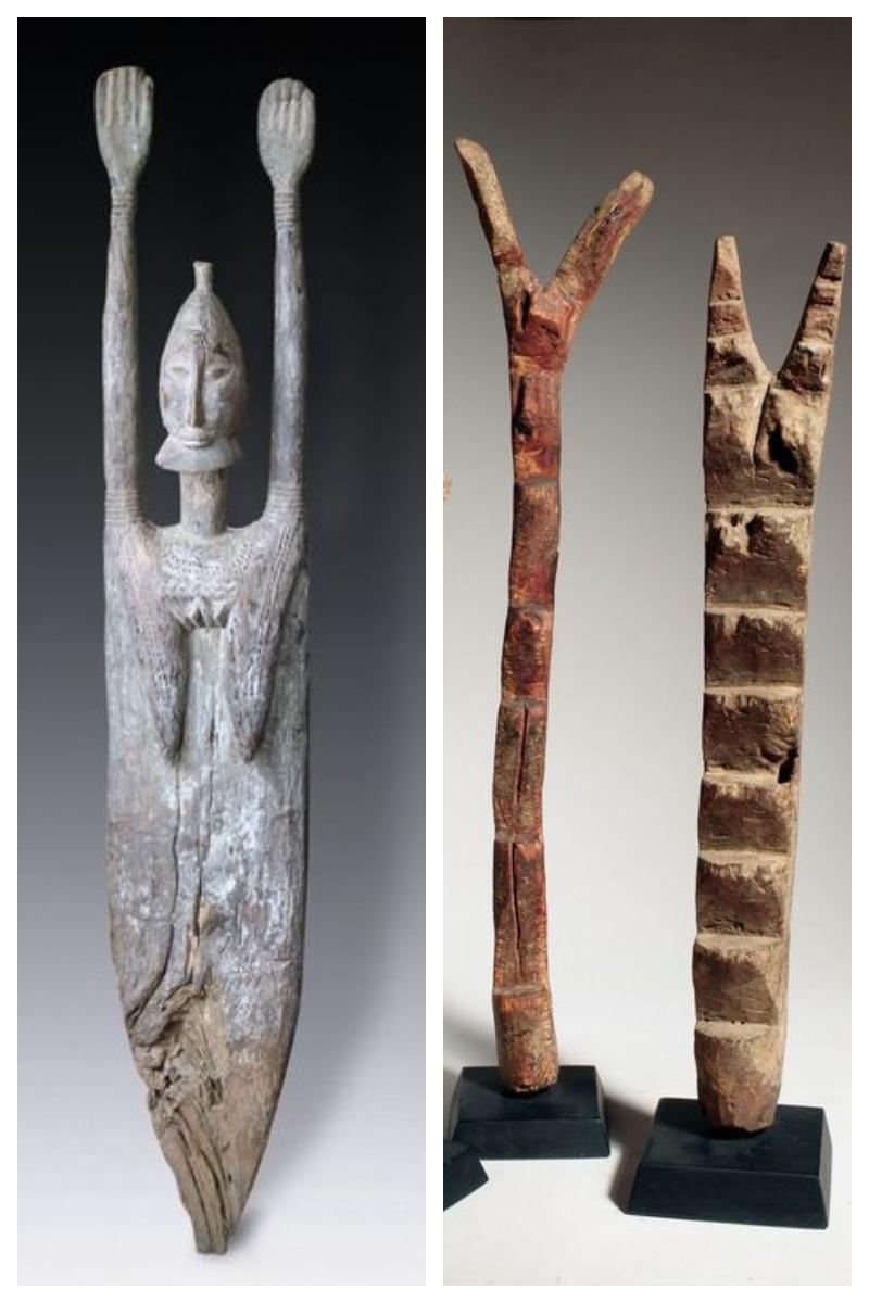 Rzeźba w drewnie kobieta z Mali