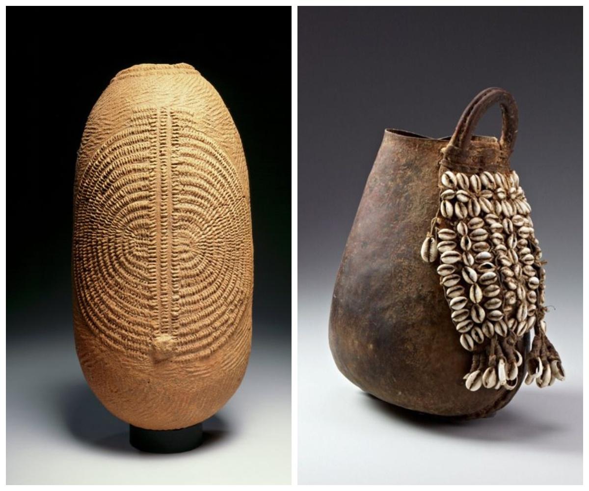 Afrykańskie dzbany i wazy