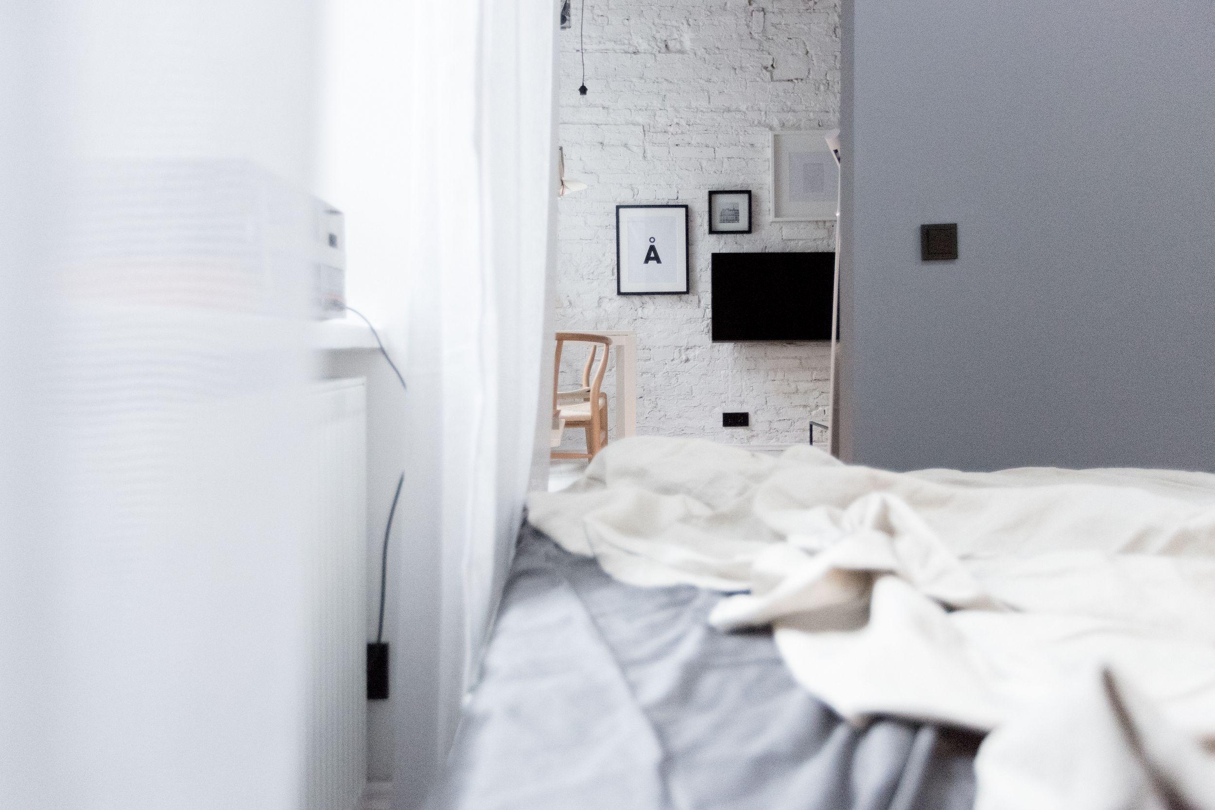 Łóżko styl skandynawski