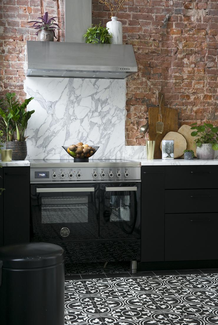 Cegła dekoracyjna w kuchni