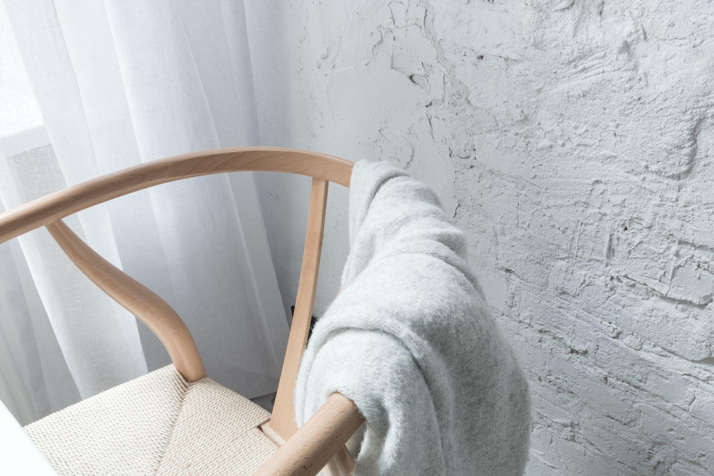 Bukowe krzesło Wishobone Carl Hans Wegner