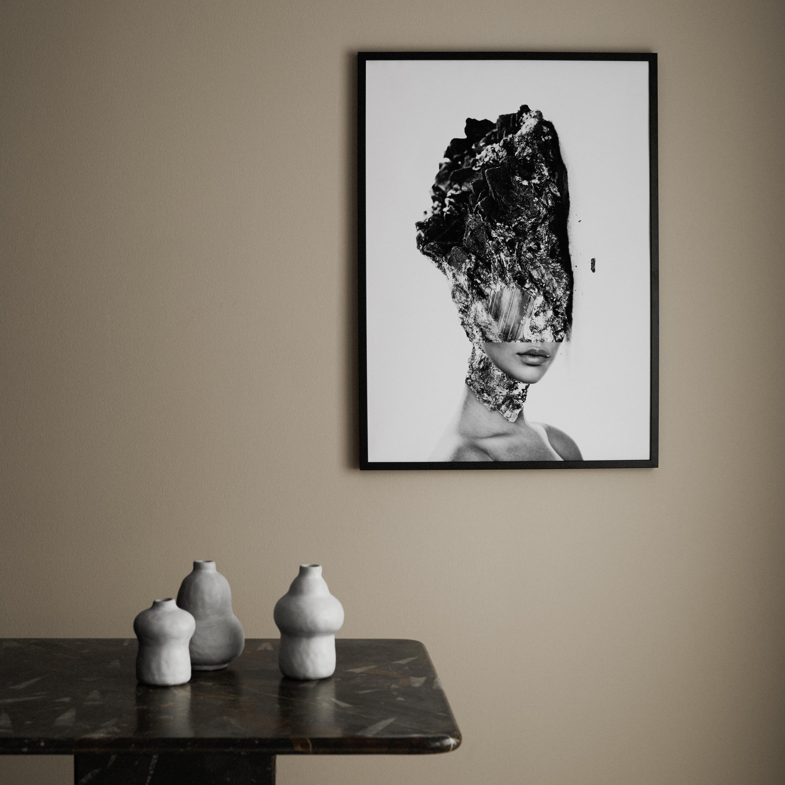 Obraz malowany tuszem kobieta