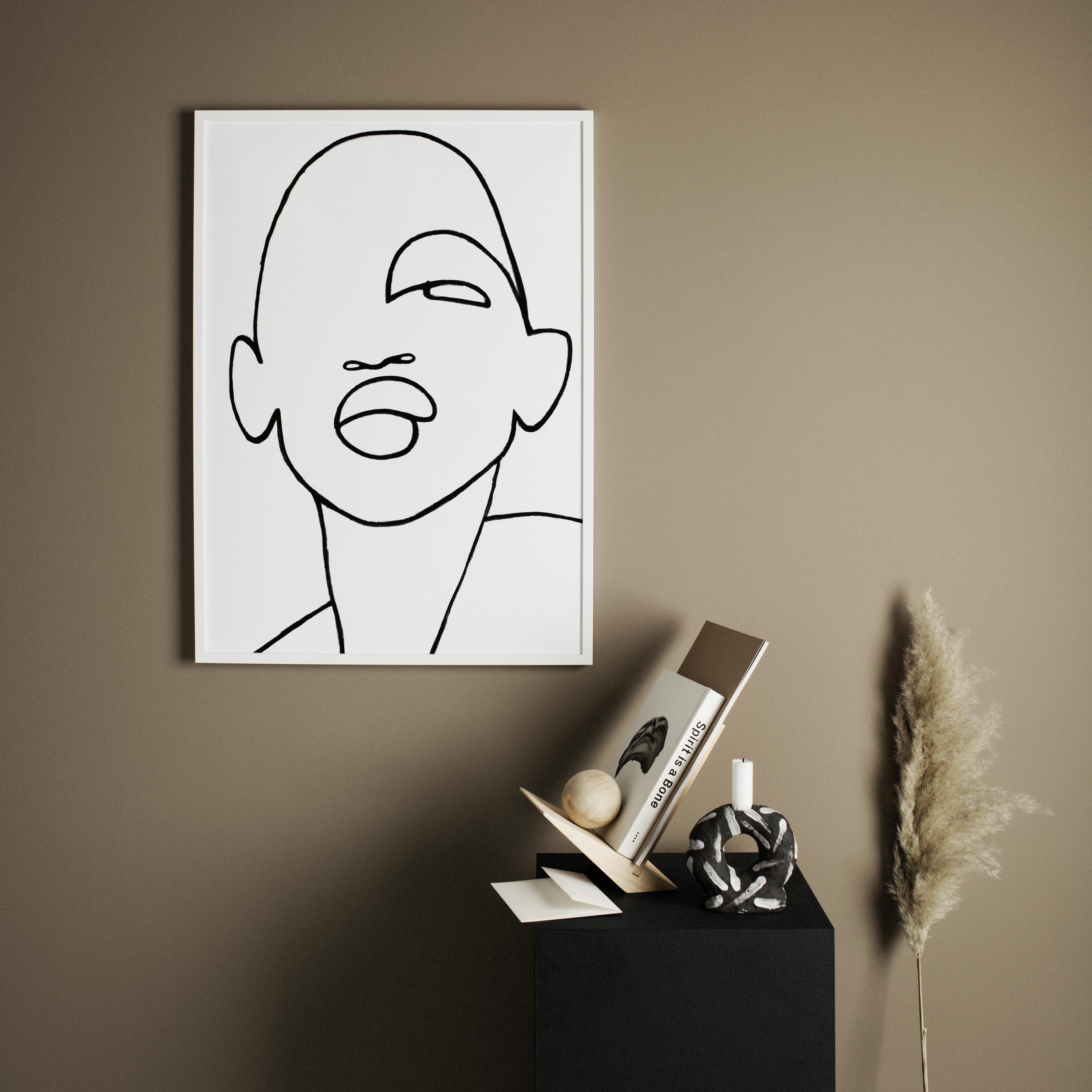 Współczesna grafika twarz kobiety