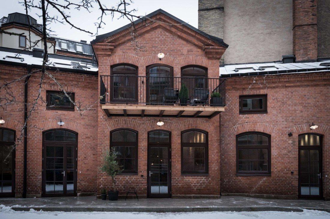 Budynek industrialny ze starej cegły