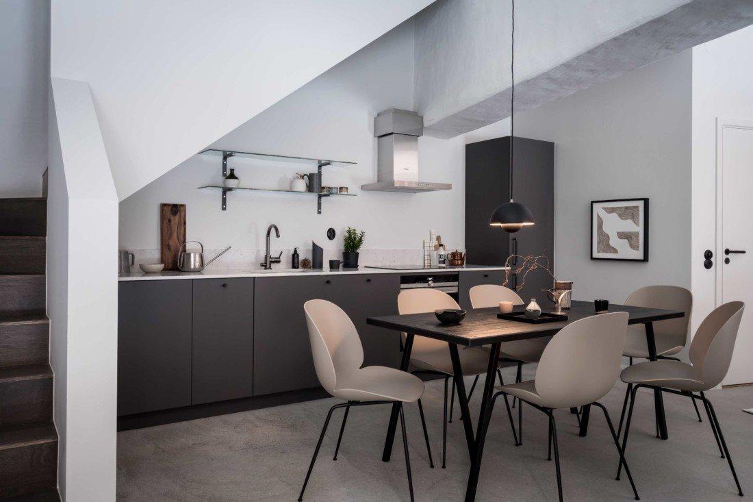 Współczesna kuchnia w stylu loftowym