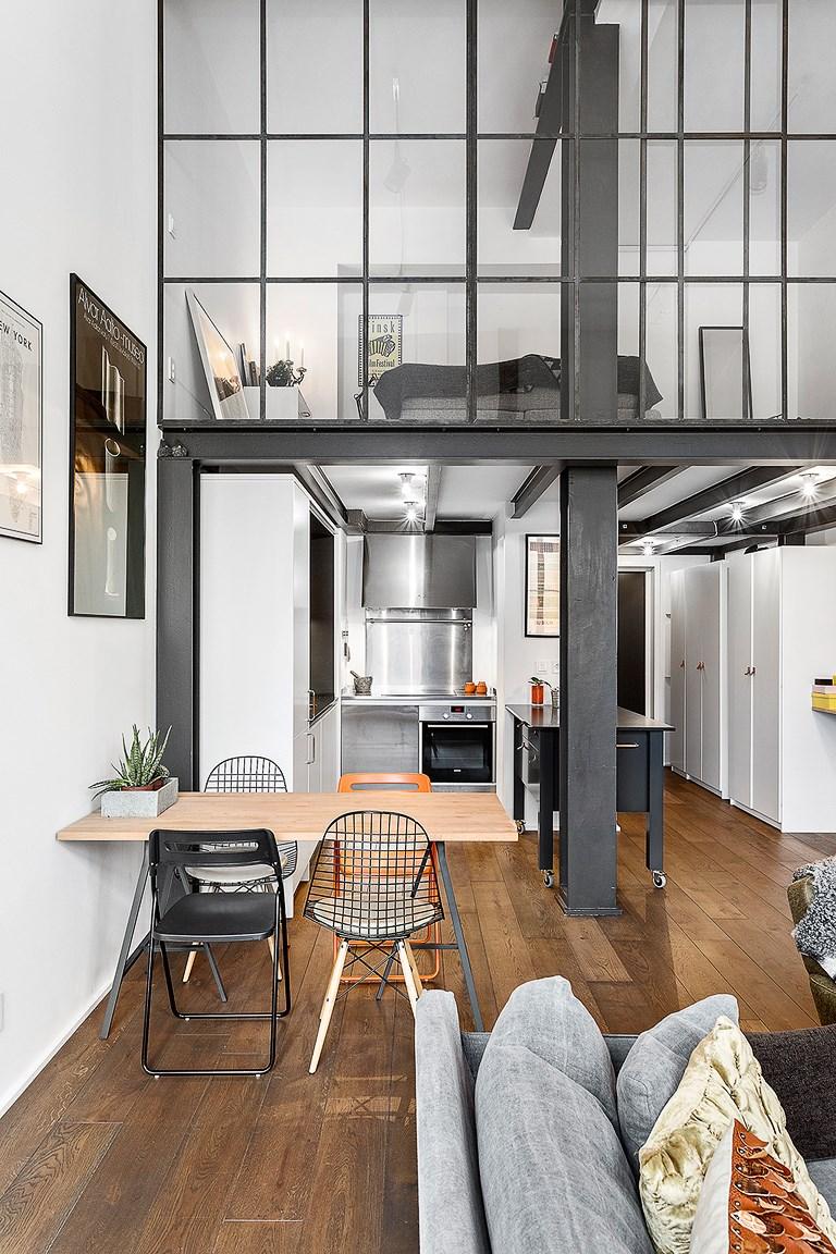 Półpiętro nad kuchnią