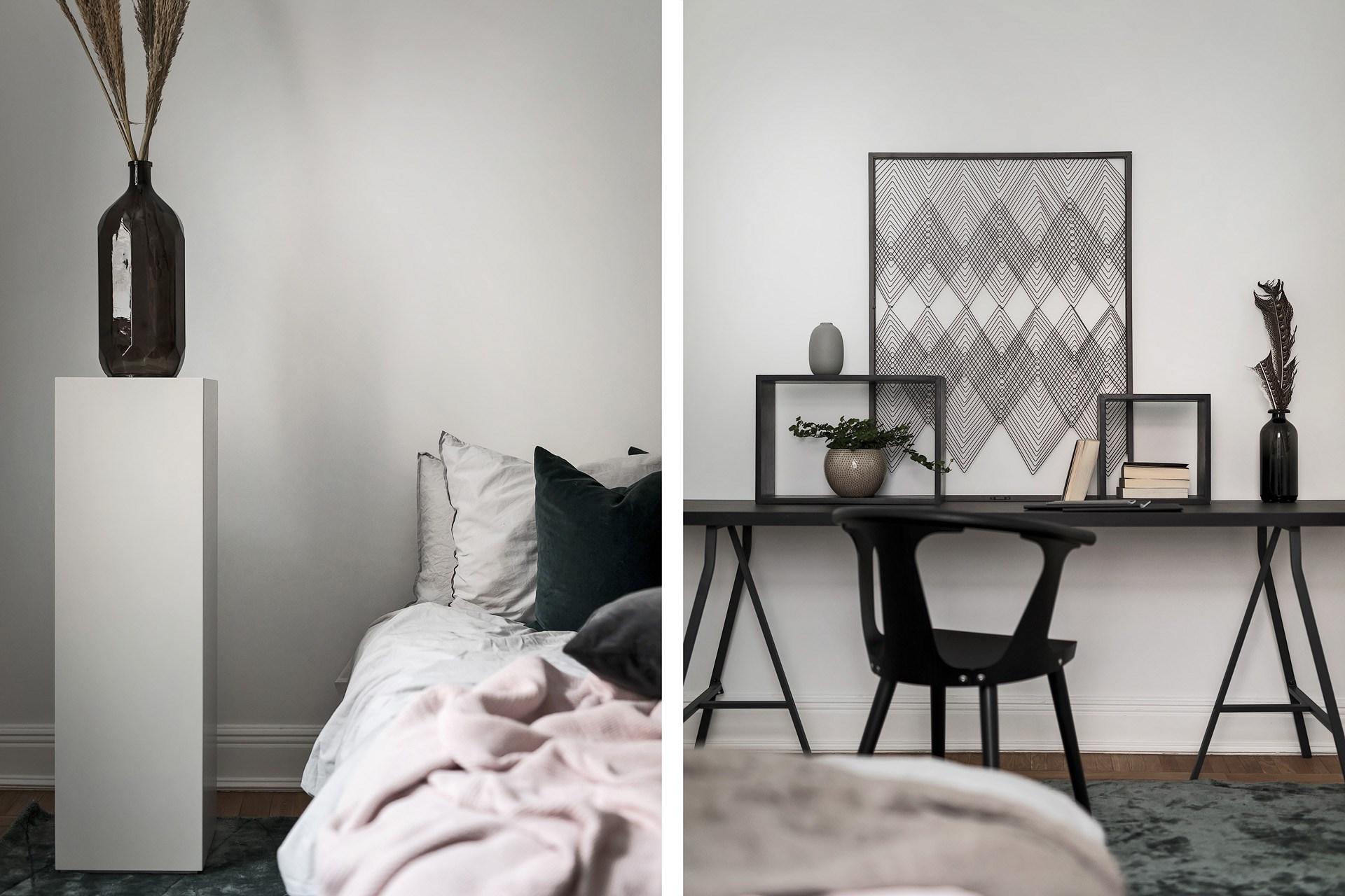 Jasna sypialnia w stylu skandynawskim