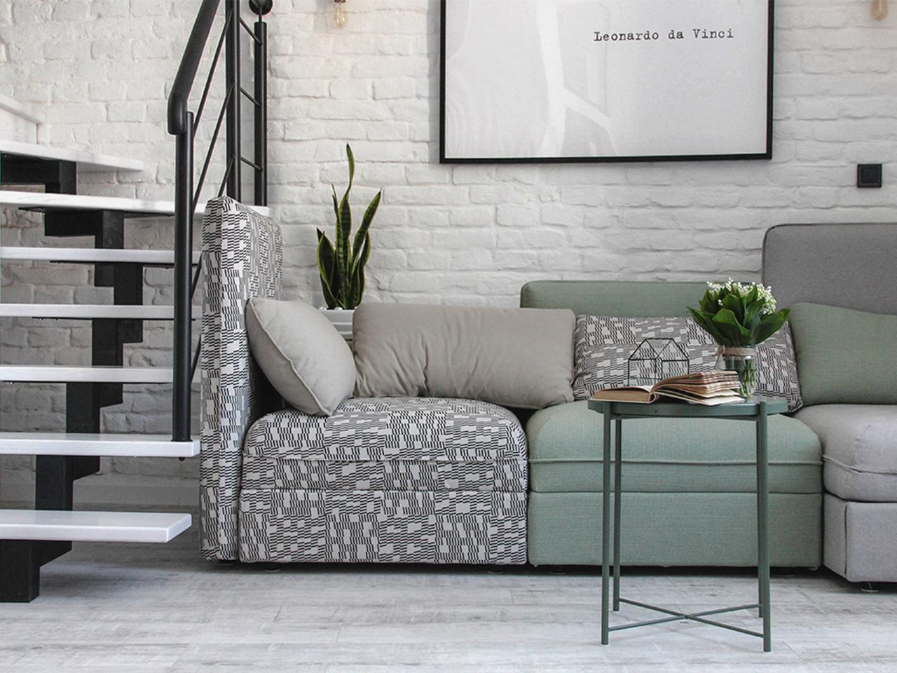 Kolorowa trzyczęściowa kanapa