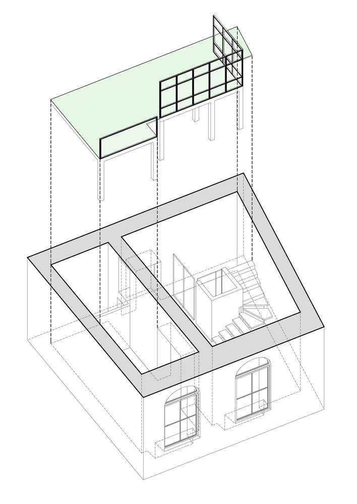 Plan antresoli w mieszkaniu