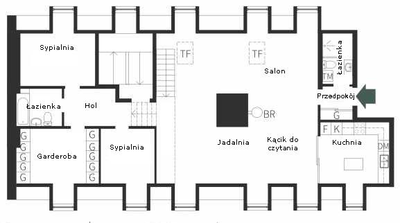 Plan mieszkania na poddaszu