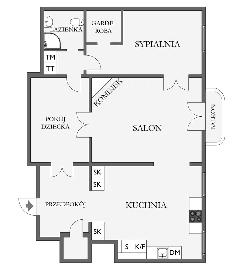 Plan mieszkania w kamienicy