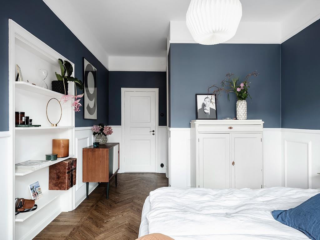 Sypialnia elegancki vintage